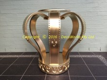Large crown painted gold