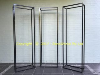 Steel display frames