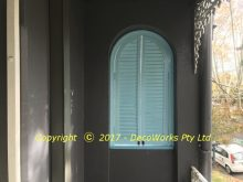 Verandah view of window shutters