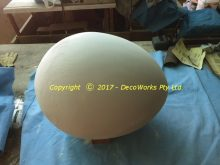 Completed polystyrene egg
