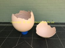 Cracked egg with top removed