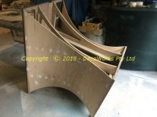 First concave 5mm bendy ply section attached