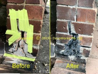 Stabilising cracked brickwork