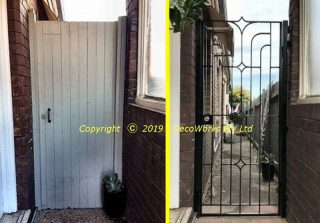 Comparison of old vs new side gate