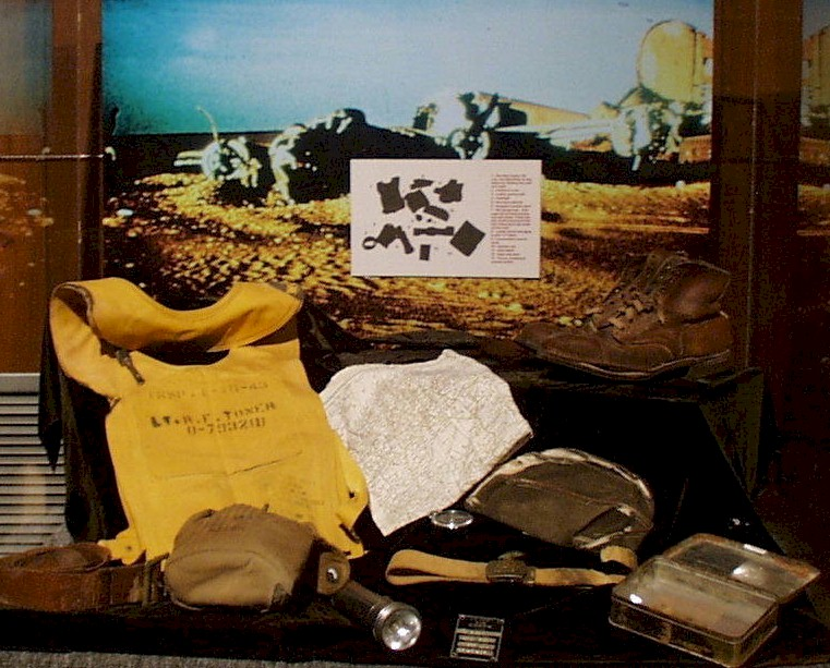 Quartermaster Museum Display of Lady Be Good Items