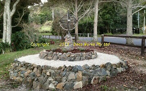 Armillary sphere rock feature