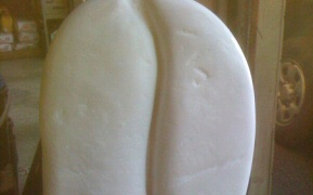 Carved polystyrene coffee bean