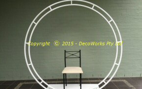 Large circular display frame