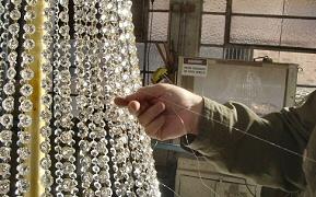 Fishing line on crystal drops