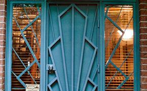 Art Deco security facade