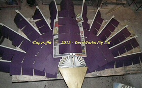 Glueing paper to fan blades