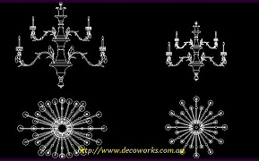 Chandelier CAD drawing