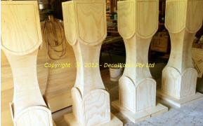 Completed lantern columns