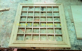 Assembled lattice panel