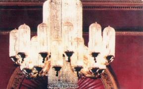 Original Regent Theatre Art Deco chandelier