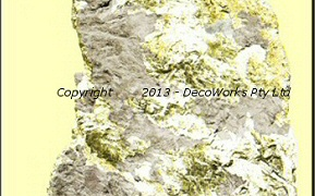 Gold contour and rock areas combined