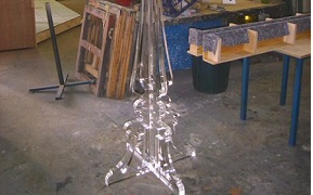 Assembled Perspex parts