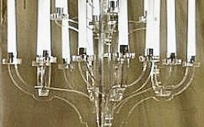 Completed Perspex candelabra