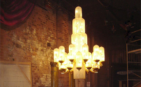 Replica of Regent Theatre Art Deco chandelier