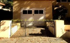 Restored driveway gates