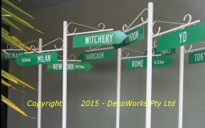 Promotional street signs