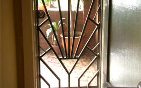 Plaza Art Deco security door silhouette