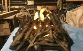 Silk flame campfire prop