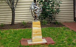 Garden armillary sphere in stainless steel