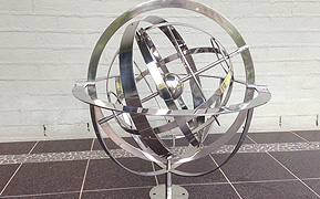 Stainless steel armillary sphere