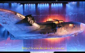Stage shot of plane