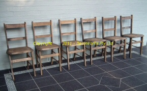 Wooden chairs X6