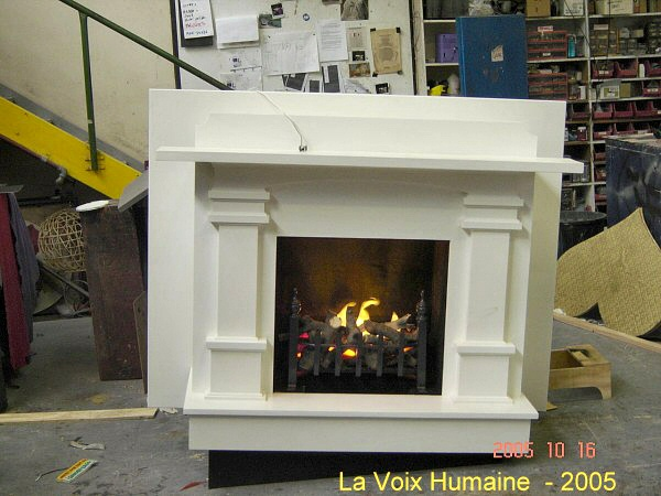 Silk Flame Prop Fireplace