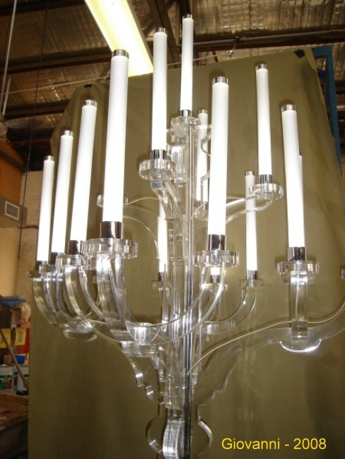 Large Perspex candelabra