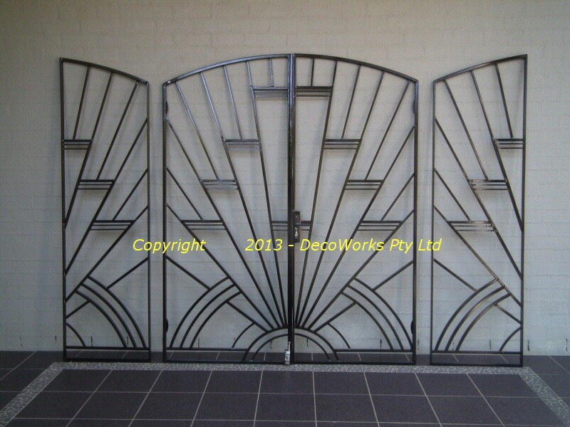 art deco security bars and grilles