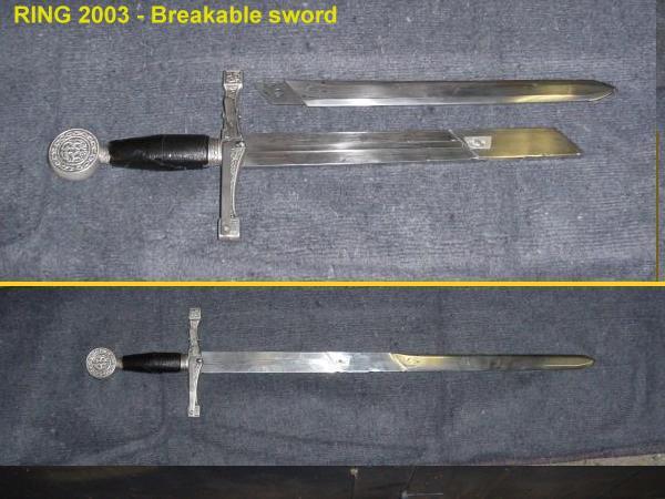 Breakable sword