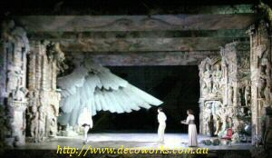 Wing extended on stage